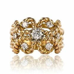 Ring Antique D' Gold Diamonds Yellow Gold Vintage Jewelry Antiques