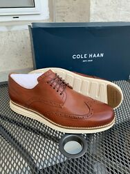 New Cole Haan Menand039s Original Grand Shortwing Woodbury Oxfords Pk Sz