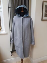 Geox Women's Woman Wool Jacket Coat Grey With Padded Gilet Uk14, L New With Tag
