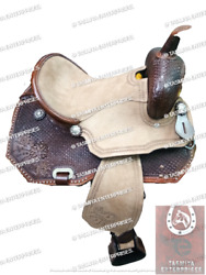 Rough Out Western Barrel Saddles And Tack With Free Matching Set.