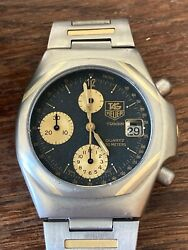 For Serious Collectors Tag Heuer Titanium And Gold Bar Chronograph Watch 25206