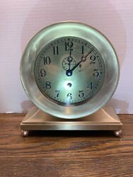 """Chelsea Antique Ships Clock, Rare Large 6""""dial Commodore Model 1622079. 1921"""
