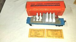 Vintage Lionel Tlcx 6544 Missile Firing Car W/box And 8 Total Missiles 9416