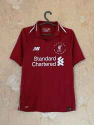 Liverpool 2018 - 2019 Home Shirt Jersey 6 Time Champions League Winners Size S