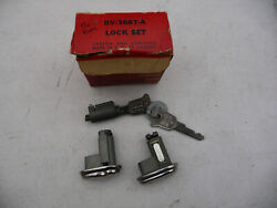 New Old Stock Mercury Door And Ignition Lock Set Matched 1952 1953 1954 1955 1956