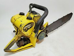 Vintage Mcculloch Mac 15 Chainsaw For Parts Or Repair