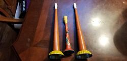 3 Vintage Antique Toy Horn Noise Maker Us Metal Toy Mfg Co. Circus Clown