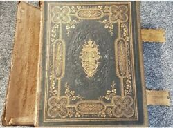 Large Very Heavy Antique Holy Bible Brownandrsquos Self Interpreting Family Bible.