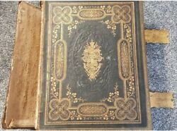 Large Very Heavy Antique Holy Bible Brown's Self Interpreting Family Bible.