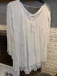 Angel Heart White 2x Long Blouse New With Tags