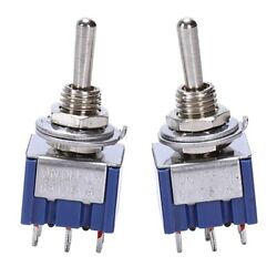 50xac 125v 6a 6 Pin Spdt On/off/on 3-way Mini Toggle Switch For Electric Guitar