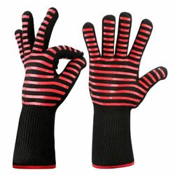 50x1 Pair Heat Resistant Thick Silicone Cooking Baking Barbecue Oven Gloves Bbq