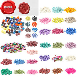 100pcs Vintage Wax Seal Stamp Tablet Pill Beads For Envelope Sealing Wax Lot