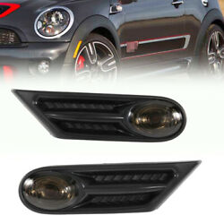 Side Indicator Repeater Lamp Smoked Black Fit For Bmw Mini R56 R57 R58 R59 07-13