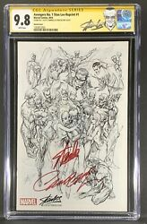 Avengers 1 Cgc 9.8 Stan Lee Edition Variant Signed Stan Lee And J Scott Campbell
