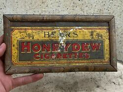 Bear Honey Dew Cigarettes Advertisement Wall Hanging Frame Litho Tin Sign Board