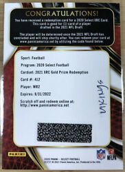 2020 Select Football Xrc Gold Prizm Redemption Wr2 Jaylen Waddle /10