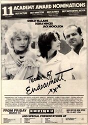 17/3/84pn22 Cinema Movie Advert 10x7 Shirley Maclaine In Terms Of Endearment