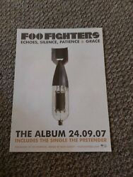 Tbebk168 Advert/poster 11x8 Foo Fighters Echoes, Silence, Patience And Grace