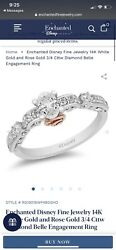 Enchanted Disney Fine Jewelry Belle Engagement Ring 3/4 Cttw, Size 6