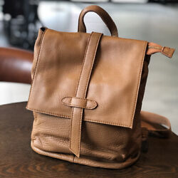 Womenand039s Real Leather Small Backpack Rucksack Daypack Travel Bag Vintage W/flap