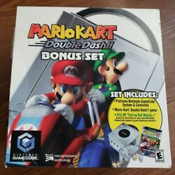 Nintendo Gamecube And Gameboy Player With Mario Kart Double Dash Game Lot