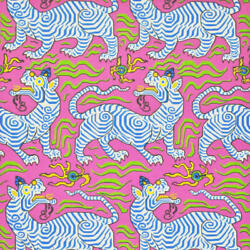 Clarence House Tibet Wall Covering/paper Hot Pink 2 Rolls