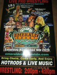 Wwe Hall Of Famer Jimmy Valiant Signed Poster And Bobby Eaton/barbarian/bull Etc