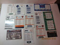 Refrigerator Magnets Lot Of 13 Chicago Bears And Nfl Schedules 1992, 93, 94 Etc.