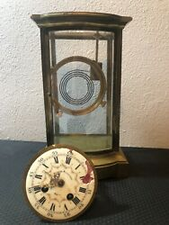 Antique French Metal Clock Medaille D'argent 1889 Military Engraved Read