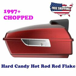 Advanblack Hard Candy Hot Rod Red Flake Chopped Tour Pack Fit 1997+ Harley