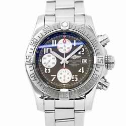 Breitling Avenger Ii Chronograph A13381 Date Grey Dial Mens Watch 90126696