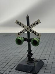 Vintage American Flyer Made By A C Gilbert. Co Railroad Crossing Sign T6