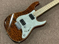Dragonfly Hi-sta Used Quilt Made In Japan Maple Top Body Maple Neck W/hard Case
