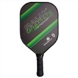 New Rally Graphite 5.0 Power Pickleball Paddle Green Thin Grip
