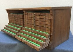 Large Antique French Black Forest Coin Collector Furniture Early 1900's Wood Oak