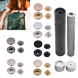 Popper Buttons Snap Fasteners S Spring Press Studs + Hand Tool Set Diy Clothing