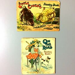 Antique Father Tuck Little Artists' Series Book Lot Of 2 | Raphael Tuck And Sons