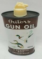 Outers Gun Oil 445a 3oz Oval Tin Can Hunting Fishing Duck Can Nice And Full
