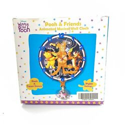 Vintage Winnie The Pooh Pooh And Friends Animated Wall Clock See Description