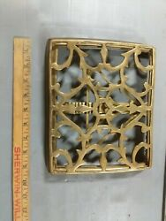 Vintage Solid Brass Music Bible Book Easel Stand Holder Desk Missing Pieces