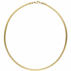 Stocking Chain 585 Yellow Gold 0 1/8in 16 15/16in Necklace Gold Chain Carabiner