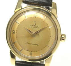 Omega Seamaster 18k Yellow Gold Half Rotor Cal354 Automatic Menand039s Watch_555888