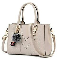 Satchel Purses and Handbags for Women Shoulder Tote Bags 1 6 White $43.06