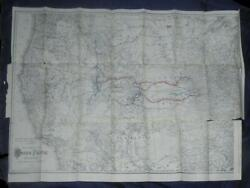 Report To Stockholders Of Union Pacific Railway 1882 W Foldout 24 X 34 Map