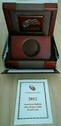 2012-w 50 American Buffalo Box And Coa Only No Coin Included