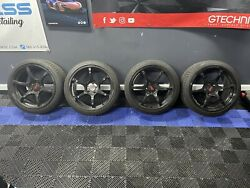 Advan Rgiii Wheels 18x9.5 +35 5x114.3 With Continental Extreme Contact 255/35/18