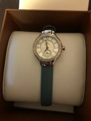 Philip Stein Signature Round White Dial Watch Mother Of Pearl, Diamonds, Slate