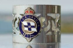 Orient Line Ss Orsova Napkin Ring Sold Onboard Souvenir