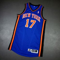 100 Authentic Jeremy Lin 2011 Ny Knicks Game Issued Jersey Size L+2 Mens